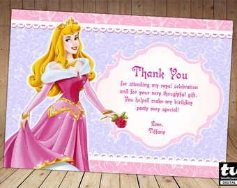 Sleeping Beauty Thank you card