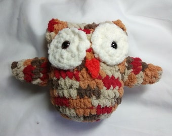 Soft Crocheted Brown Variegated Owl