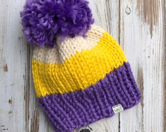 2.5-4 Years Color Block Beanie
