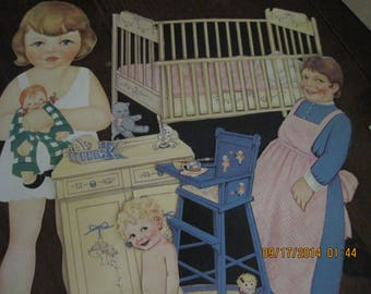 Antique Vintage Large Paper Dolls 30's/40's....at least 50 pc ....These ARE NOT reproductions...dolls/clothes/accesories