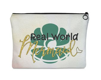 Real World Mermaid Carry All Pouch  Flat