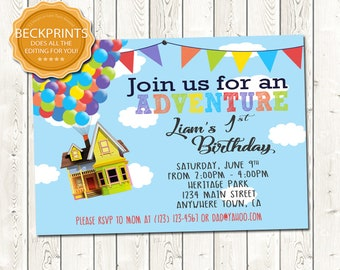UP Birthday Invitation, Digital Download JPEG File, You Print
