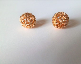 Gold plated filigree gold plated balls