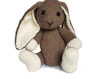 Lily the Hand Knit Bunny, soft toy, Handmade, stuffed animal, children's toy, baby shower gift, Easter, nursery decor, soft bunny, plush