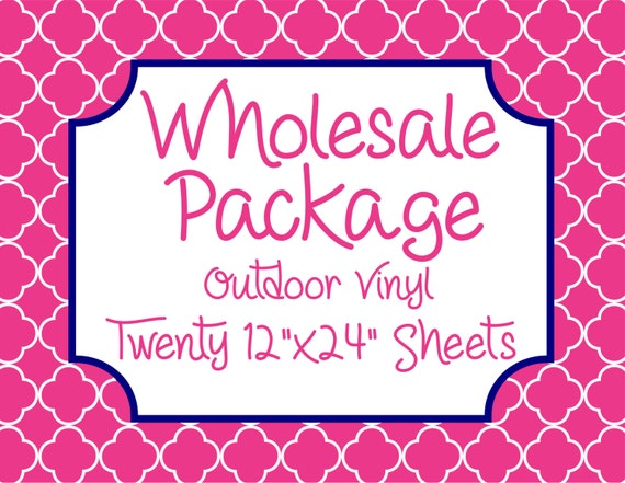 """Wholesale Package for Twenty 12""""x24"""" Outdoor Vinyl Sheets // Beautiful, Vibrant Patterns"""