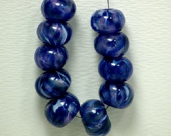 Blue Marble Lampworked Glass
