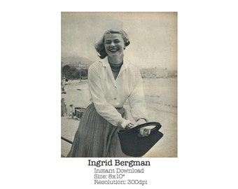 Ingrid Bergman from 1959's copy of Photoplay Annual / Digital Download