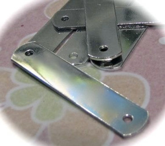 """50 Blanks ID Tags - 1/2 x 1.5"""" Inches - 18 or 14 Gauge - 2 Holes - PURE Tumbled Food Safe Aluminum"""