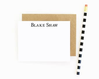 Personalized Mens Stationary Set Custom Business Stationery Mens Personalized Flat Note Cards Professional Stationery Father's Day Gift Idea
