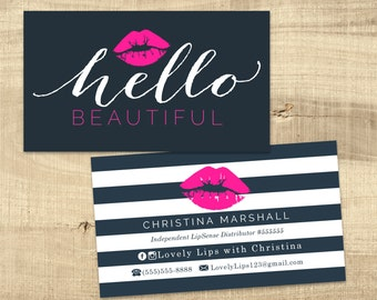 LipSense Business Card design - - LipSense marketing - Distributor - Lipsense - Lip Boss - LipSense Design