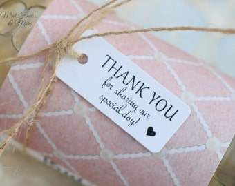 Thank you favor tag, favor tags, wedding favor tags, bridal shower favor, wedding gift tags