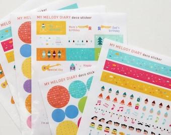 Point Deco Sticker Set (6 sheets)