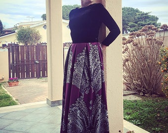 Velvet dress OR maxi skirt