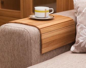Sofa Tray Table OAK, Wooden TV Tray, Modern Tray Table, Laptop Tray,