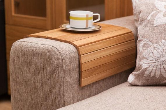Ottoman Wood Tray OAK Sofa Tray Table Side Table Wood