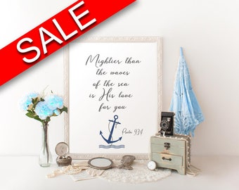 Wall Art Mightier Than The Waves Of The Sea Digital Print Mightier Than The Waves Of The Sea Poster Art Mightier Than The Waves Of The Sea