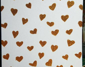 Blank Hearts in gold