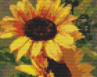 Sunflowers Cross Stitch Kit, Floral Cross Stitch, Counted Cross Stitch, Embroidery Kit, Art Cross Stitch, Catherine Klein