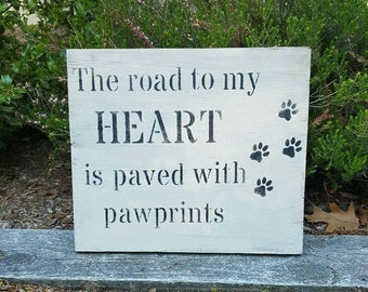 Pet Lover Gift, Dog Gifts, Pet Gifts, Paw prints, Pet Lover Sign, Gift for Pet Lover, Farmhouse Decor, Country Decor, Paw print Gifts, Dogs