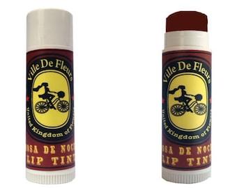 Rosa de Noche Dark Red Lip Tint / Blusher-  Vegan Tinted lip balm/ Blusher