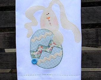 Gift for Her - Kitchen Towels - Easter Towels - Bunny Tea Towel - Easter Egg - Farmhouse Decor - Home Decor - Dish Towel - Spring Decor