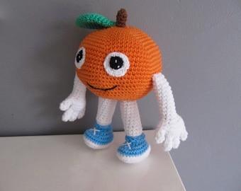 Miss Orange crochet baby blanket