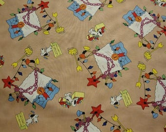 Snoopy Christmas Doghouse-Quilting Treasures-Fat Quarter