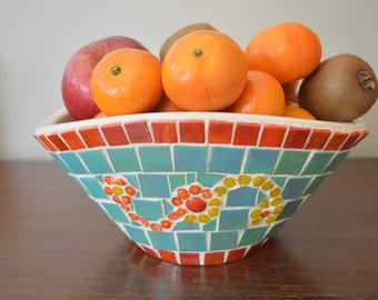 mosaic decorative fruit bowl