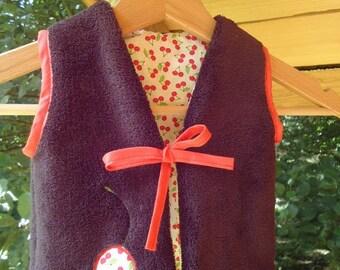 Shepherd Cardigan / reversible vest / baby clothes / comfy / cozy / birth gift / baby / bee kouz
