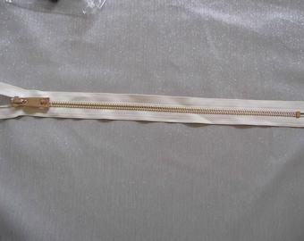 Ivory and gold zipper 40 cm SKU 9002