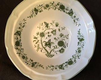 Green Willow Vintage China Serving Bowl