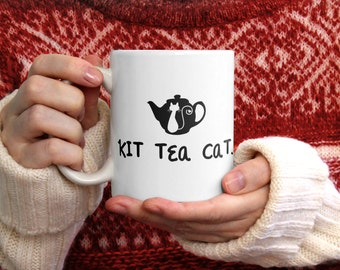 Kit Tea Cat coffee mug