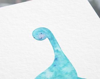 Nessie is My Bestie Watercolor Print
