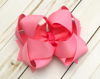 Light Bubble Double Stack Boutique Bow - Available in multiple sizes