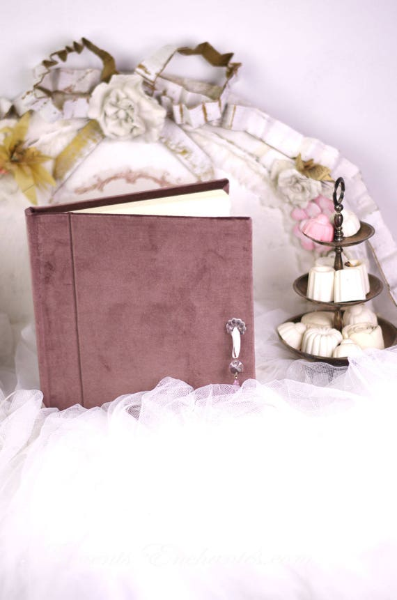 Guest book Note book secret book or guest book velvet
