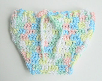 Pastel Rainbow Diaper Cover Newborn Girl Soaker Infant Baby Boy Cozy Green Yellow White Pink Blue  1 2 3 Month Reborn Clothing Ready To Ship