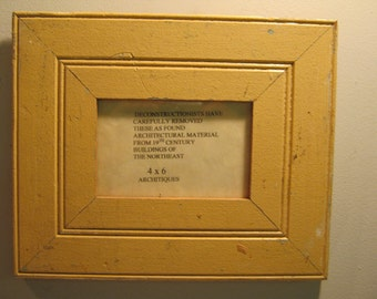 SHABBY ARCHITECTURAL Chic Salvaged Recycled Wood Photo Picture Frame 4x6 S 410-12
