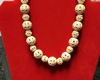 Vintage Celluloid Necklace with Funky Beads