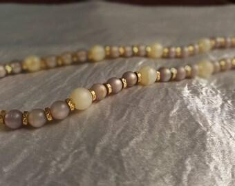 Vintage Lilac and Cream Napier Necklace