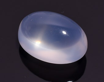 56 Ct. Natural Blue Milky Opal Quartz Oval Cabochon Loose Gemstone 27X19X16 HB-637