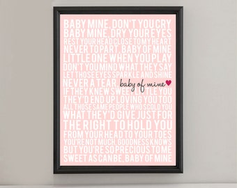Instant Digital Download - Baby Mine - Dumbo - Various Colors - 1.25 Printing Ratio