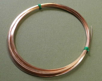 Gold Filled Wire - 22 Gauge - 3 Feet - SQUARE - Half-Hard