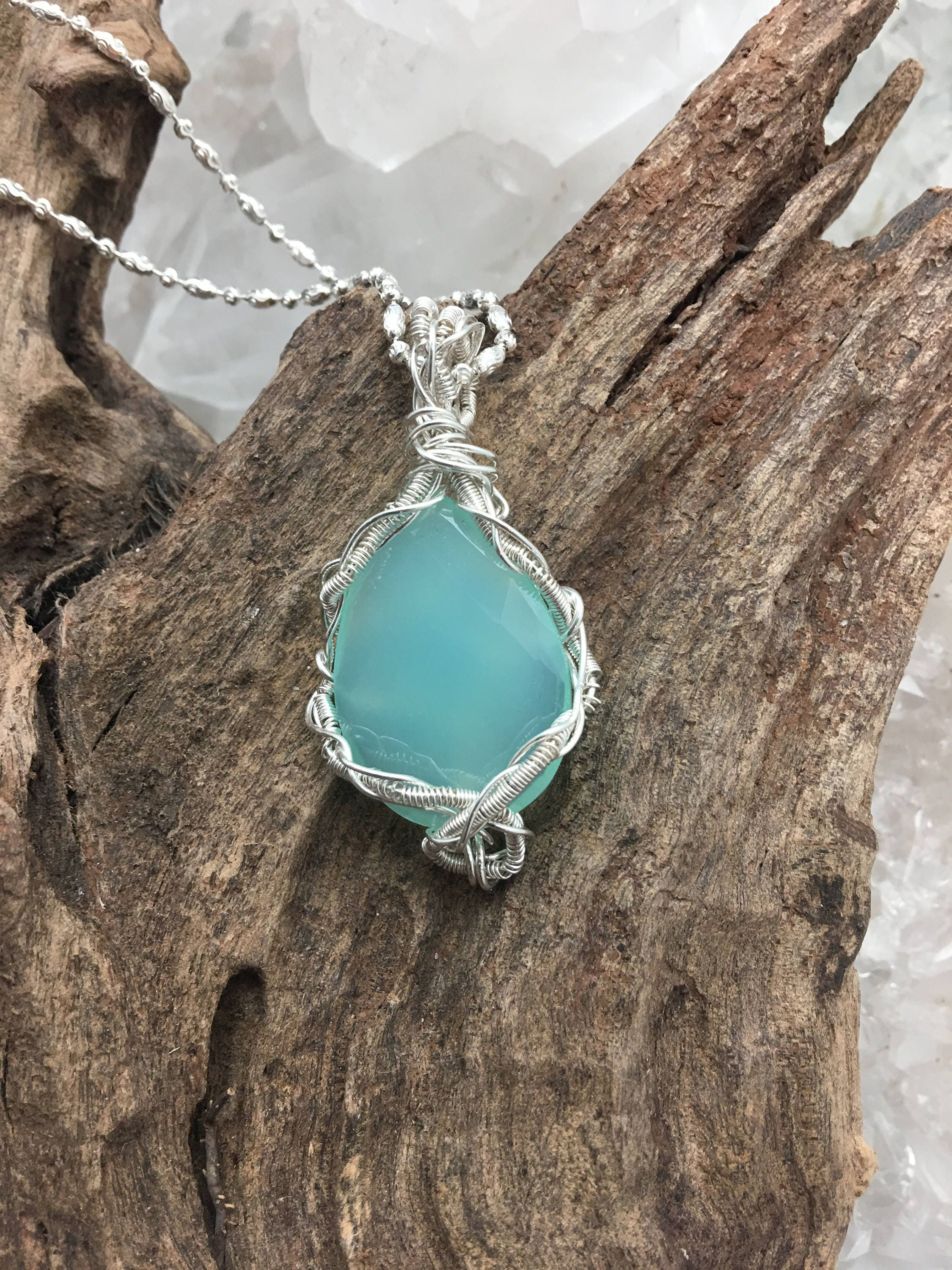 product pendant earth treasures blue necklace s ss chalcedony