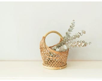 Wicker Basket | Small Basket | Woven Basket | Boho Home Decor Basket