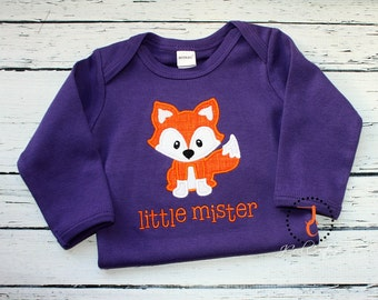 Little Mister Coming Home Outfit - Sibling Outfits, Brother Sister, Little Brother Shirt, Boy Take Home Outfit, Fox Baby, Shower Gift, Gown