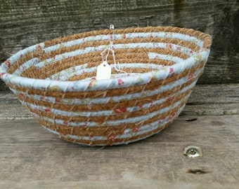 Robins Nest Fabric Coiled Basket