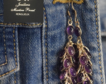 Silver and Amethyst earrings