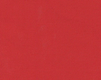 Red Broadcloth, Fabric By The Yard