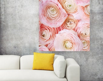 50%OFF,  Ranunculus Print Ranunculus Poster Art Ranunculus Wall Art Rose Peony Digital Flower Print Ranunculus Photo