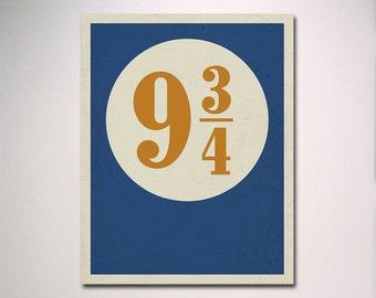 Harry Potter Poster / Platform 9 3/4 Poster / Platform 934 / Platform 9 3/4 Art